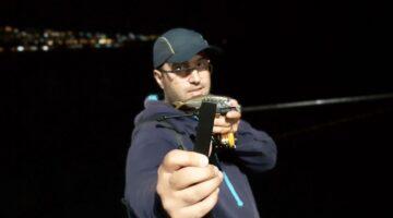 Веселин Борисов позира с уловена граца на силиконова примамка
